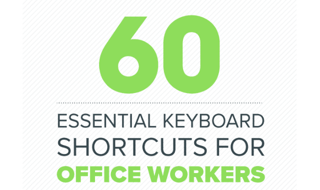 60 Essential Keyboard Shortcuts For Office Employees