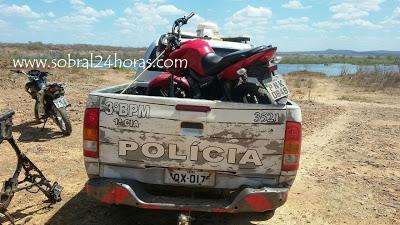 POLÍCIA MILITAR DE MUCAMBO RECUPERA MOTOCICLETA QUE FOI ROUBADA EM SOBRAL