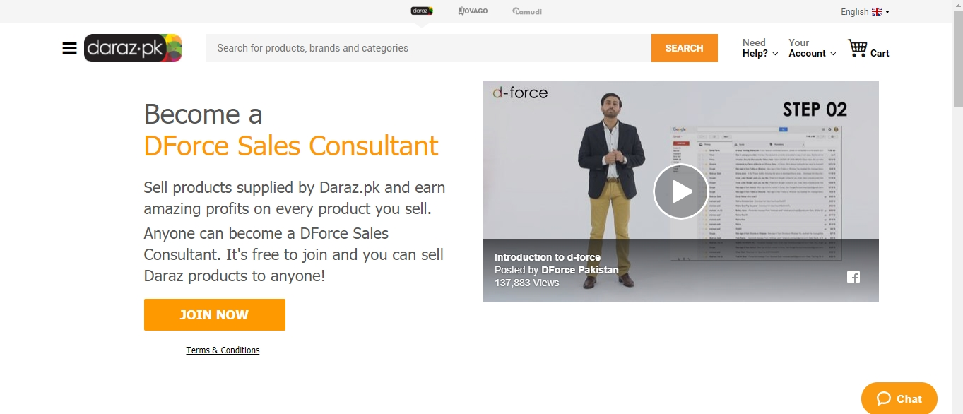 Daraz offers d force programs where you can deliver the product to the client and you can earn money