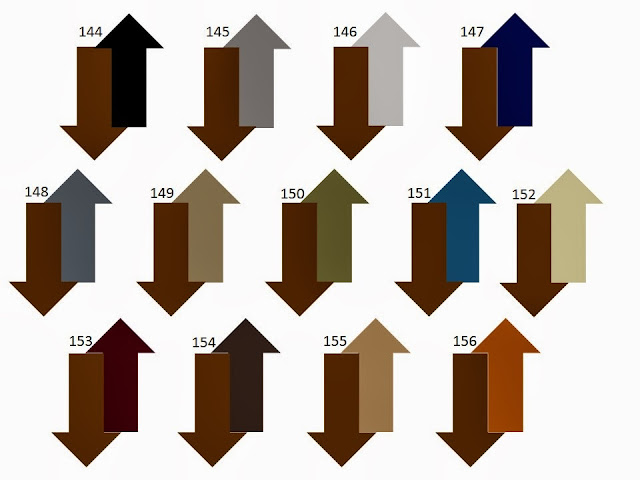 13 combinations of a secondary neutral color with saddle or cognac brown
