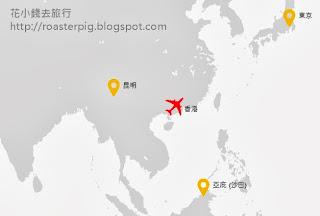 香港快運路線圖2013 Blogger <花小錢去旅行>