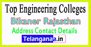 Top Engineering Colleges in Bikaner Rajasthan