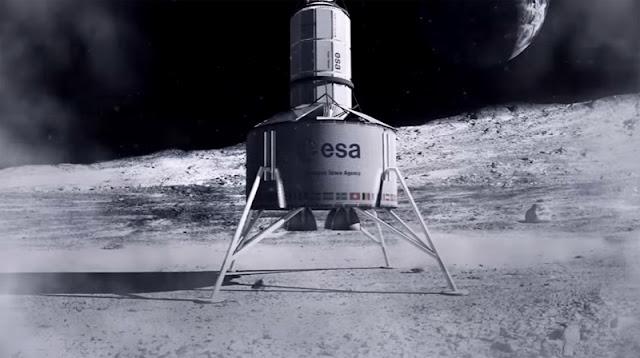 construção de base lunar