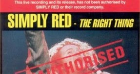 Rock On Vinyl Simply Red The Right Thing Unauthorised
