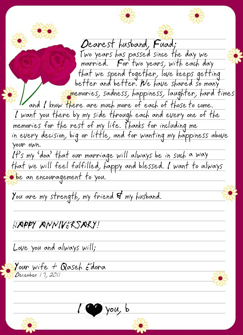 Love letter for husband on anniversary free professional resume the genealogy center presents our military heritage war letters of p sweet love letter to husband one year together anniversary my best letters wonderful spiritdancerdesigns Choice Image
