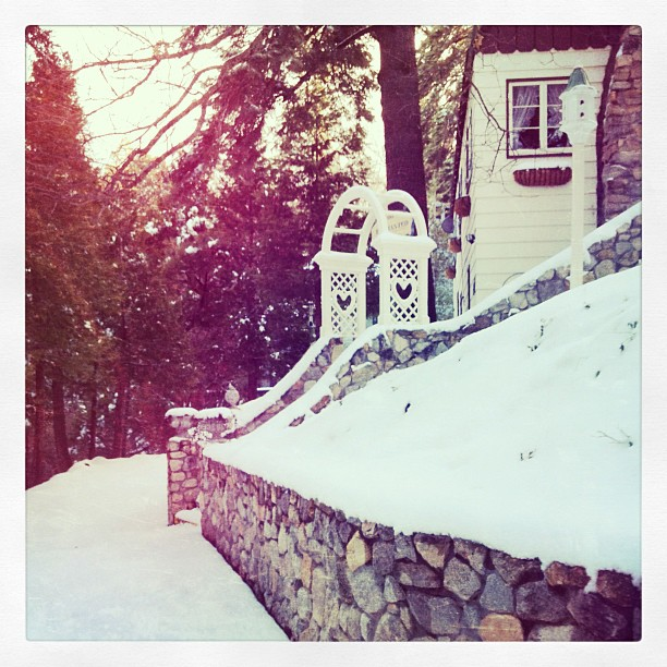 enchanted house in the snow