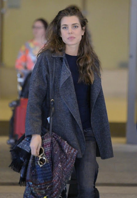 Charlotte Casiraghi seen at Los Angeles International Airport