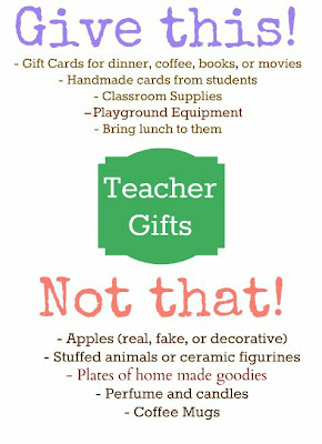 Give this! Not that! Teacher Approved End of Year Gifts