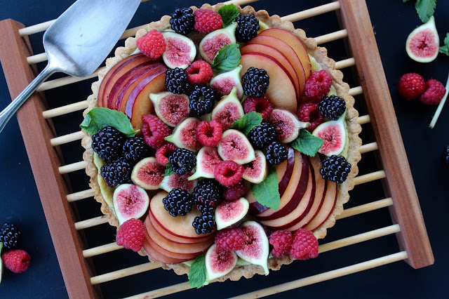 Nearly-Fall Fruit Tart with Goat Cheese | Nothing in the House
