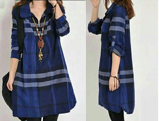 Jual Baju Lengan Panjang Elinda Long Top - 13483