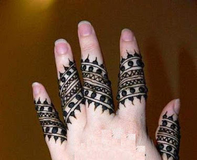 Simple henna designs for fingers