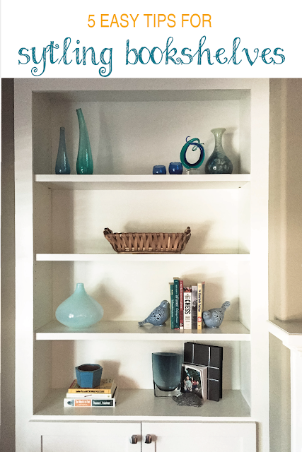5 tips to styling bookshelves | www.sprinkledwithcolor.com