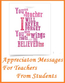 Appreciation Messages and Letters! : Teachers