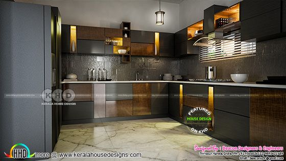 Kitchen interior Kerala