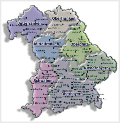 Deutschlandkarte Bayern Karte Region Bild