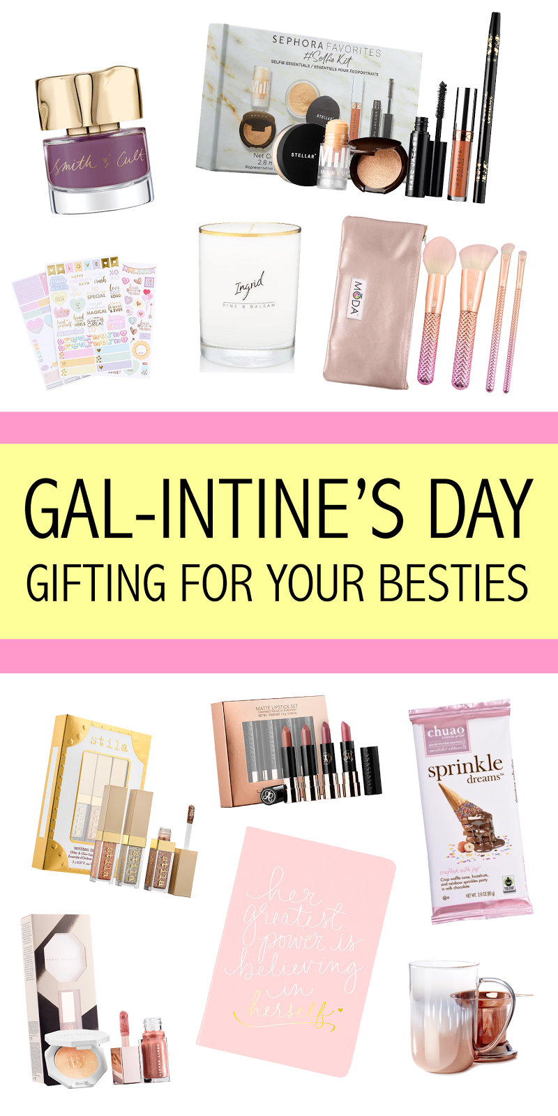 Pinnable Galentine's Day Gift Guide