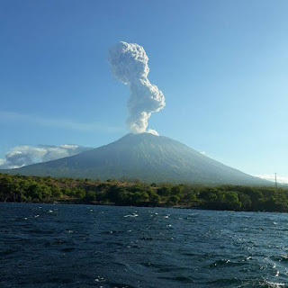Erupsi Gunung Agung 5 Juli 2018, jam 16.33 WITA