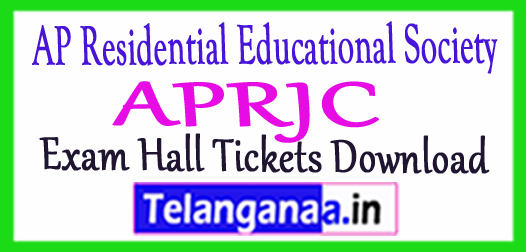Andhra Pradesh Residential Junior College Joint Entrance Test APRJC Hall Tickets Donload