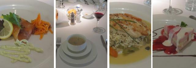 Britisches Abendessen auf der MS Artania