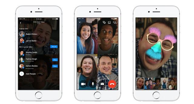 تحديث جديد لتطبيق فيس بوك مسنجر Facebook Messenger يضيف خاصية محادثات الفيديو كول الجماعيه
