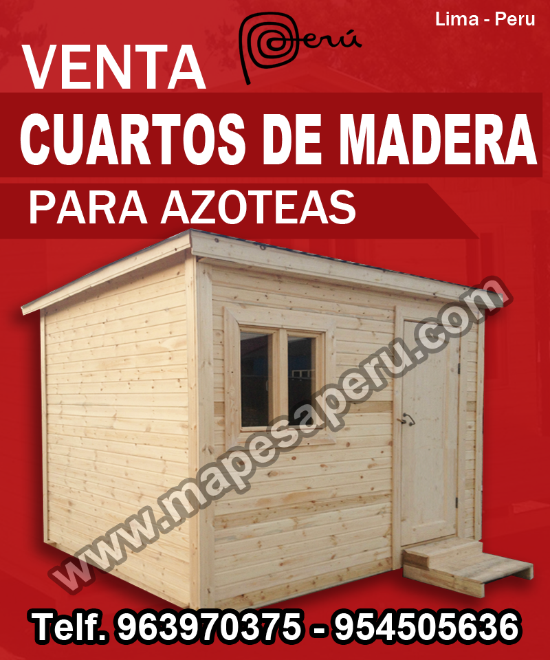 Mapesa Peru Sac Cuartos De Madera Para Azotea En Lima