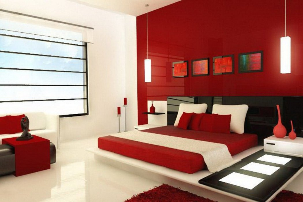 best bedroom designs in red color 3