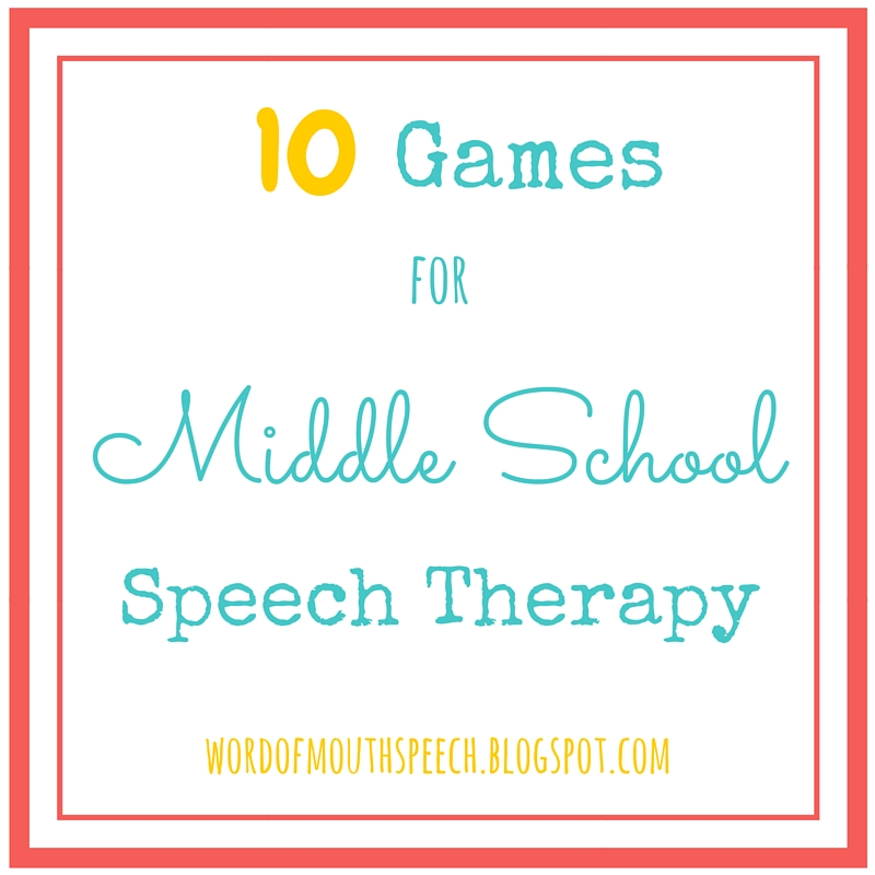 10 Games For Middle School Speech Therapy Word Of Mouth
