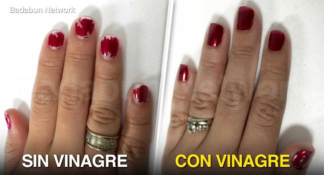Como usar el vinagre para mantener la manicure