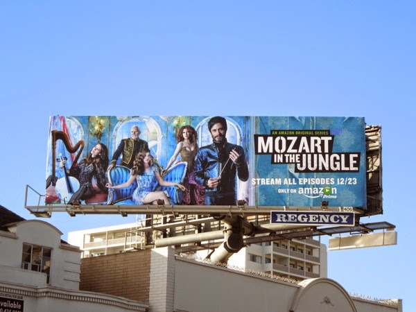 Mozart in the Jungle billboard Sunset Strip
