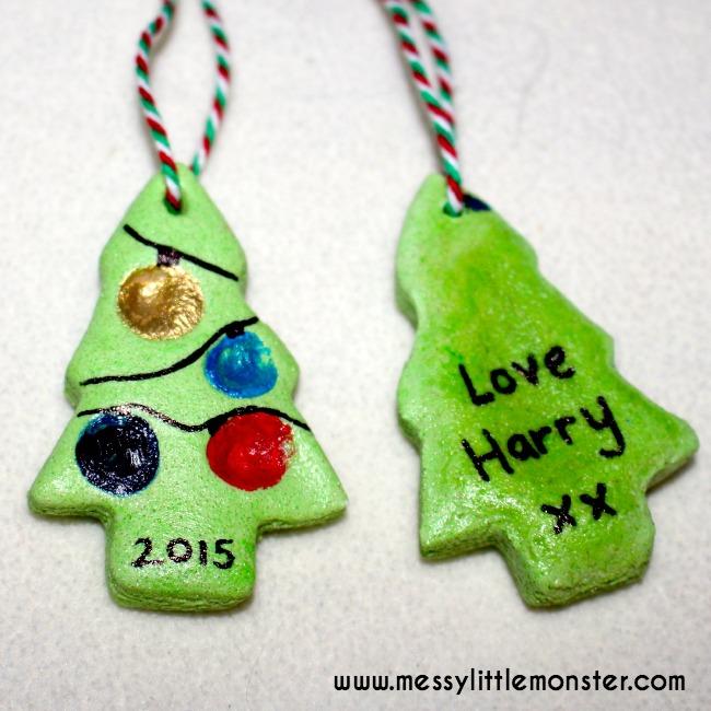 Salt Dough Fingerprint Ornament - Fingerprint Christmas ...