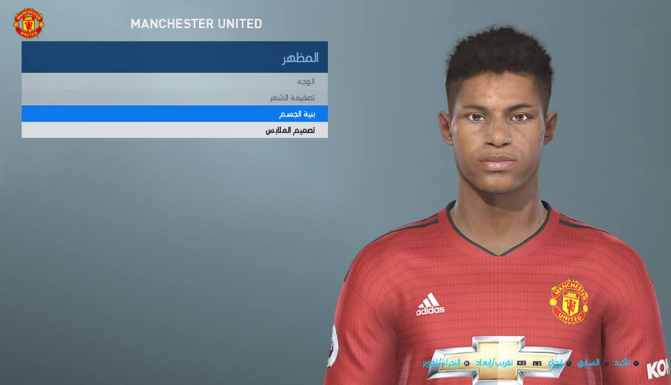 PES 2019 / PES 2018 Rashford face by Shenawy