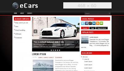 eCars blog template