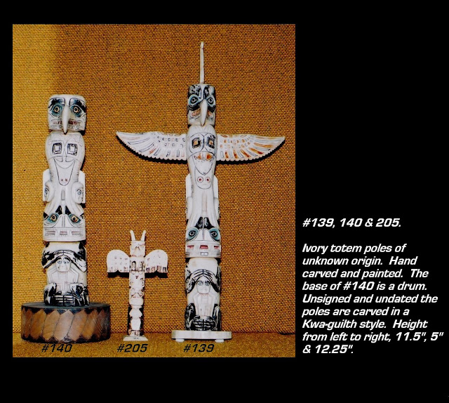 ivory totem pole Kwa-guilth design