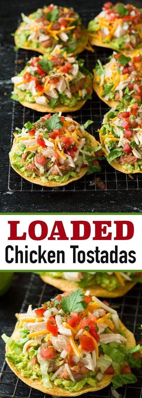 Loaded Chicken Tostadas