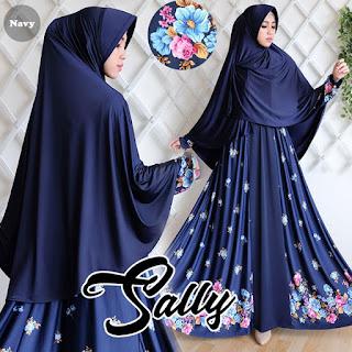 Gamis Sally Navy adalah baju gamis modern murah, baju gamis murah, baju gamis terbaru dan murah, gamis murah, gamis murah online, gamis trendy, grosir gamis murah, grosir gamis syar i murah,  Model Baju Muslim Terbaru 2017, model busana muslim terbaru