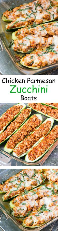 Chicken Parmesan Zucchini Boats Recipe Best Food And Drink Reciepe
