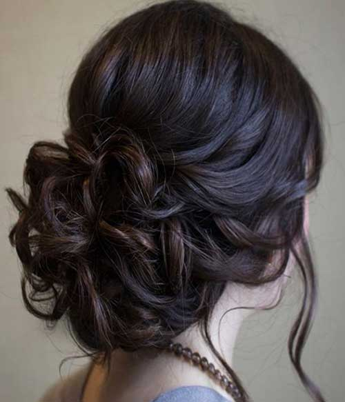 48 latest best prom hairstyles 2017 hairstylo a more vintage curled up side hair look pmusecretfo Gallery