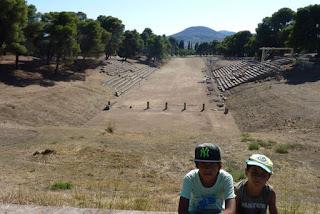 Península del peloponeso. Estadio de Epidauro.