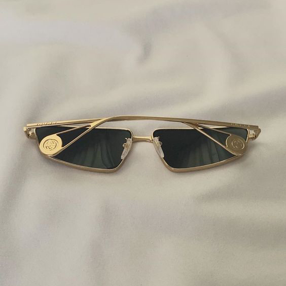 Vintage Gucci sunglasses | Goldtone | Allegory of Vanity