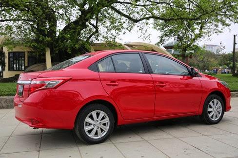 Toyota Vios 2014 giá bao nhiêu (Hông xe)
