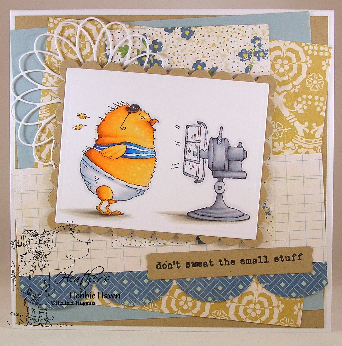 Heather's Hobbie Haven - Helga the Hot Chick Card Kit