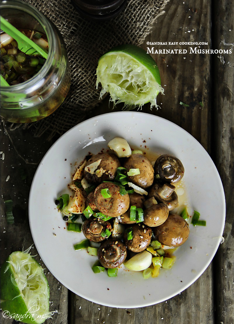 Delicious, easy and healthy #recipe for Marinated Mushrooms