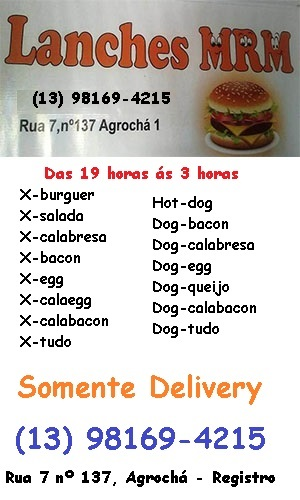 Lanches MRM Agrocha