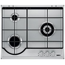 Zanussi ZGG65334XA Integrado Encimera de gas Acero inoxidable hobs - Placa (Integrado, Encimera de gas, Acero inoxidable, Acero inoxidable, 1000 W, 5,4 cm)