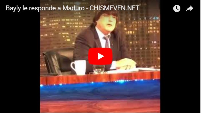 Jaime Bayly respondió a las amenazas de Nicolás Maduro