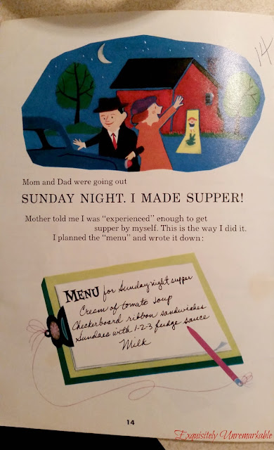 A page from an old Carnation Evaporated Milk Cookbook