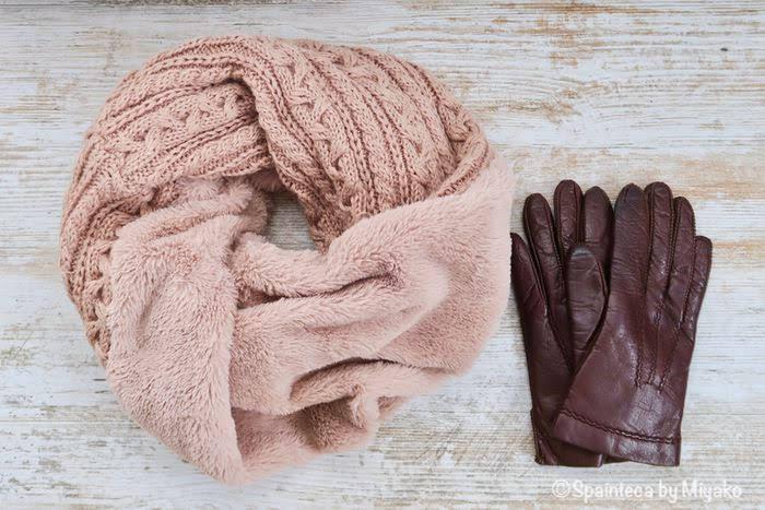 寒いときの観光に必需品なマフラーと手袋