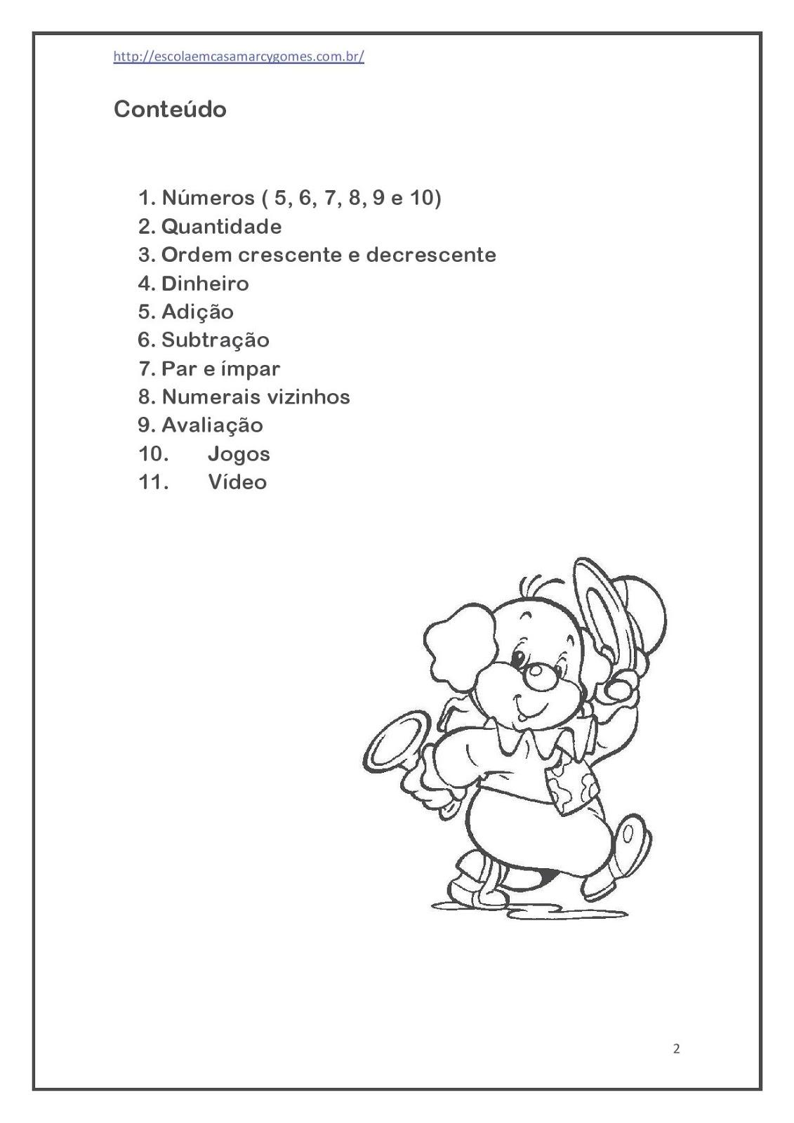 Apostila Educação Infantil Ii Matemática Parte 2 120 Páginas