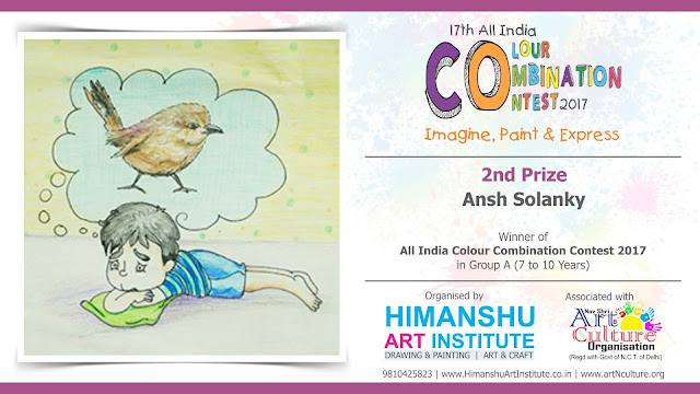 2nd Prize Winner  Ansh Solanky in All India National Level Painting Competition for Kids