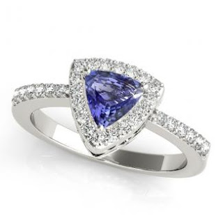 Trillion Tanzanite Ring